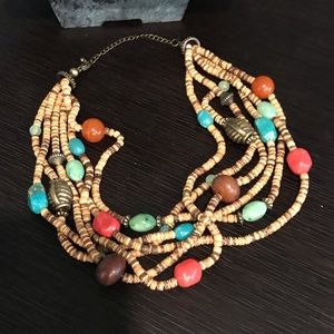Vintage Bohemian colorful layered necklace